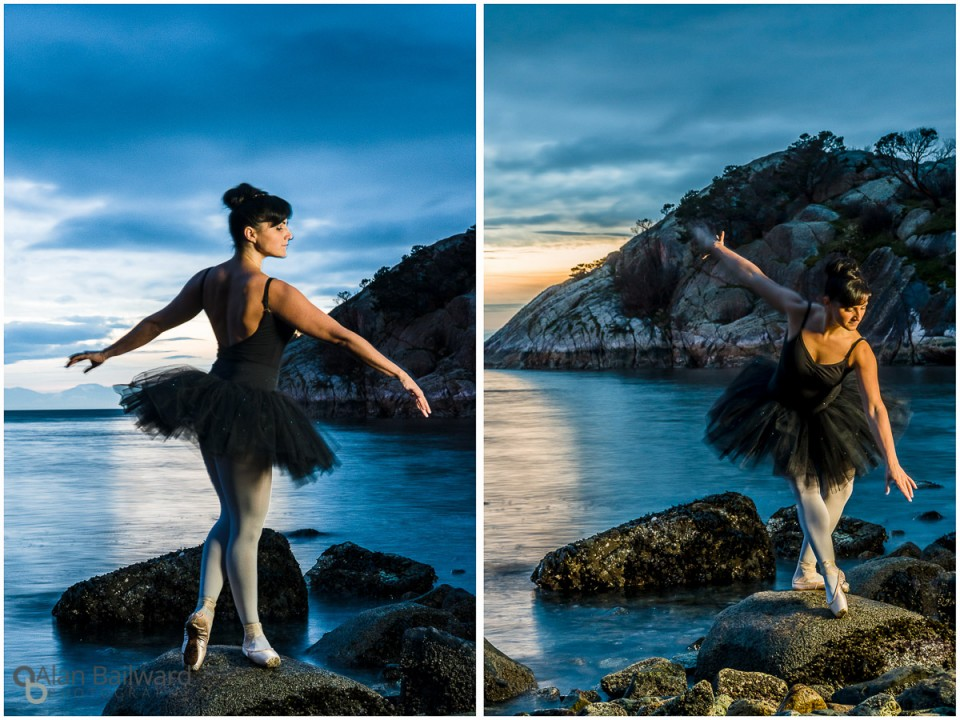 Ballerina in the City at Whytcliff Park, Vancouver