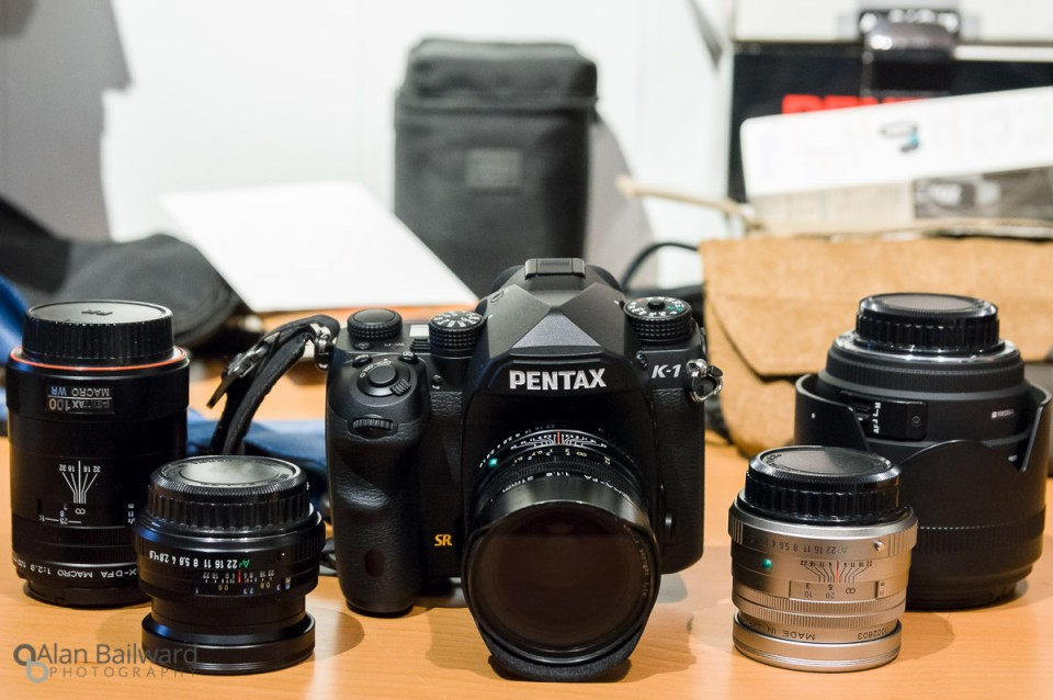Pentax K-1 and various lenses