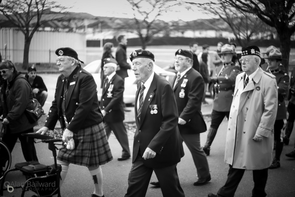 Veterans marching in the Remembrance Day Parade