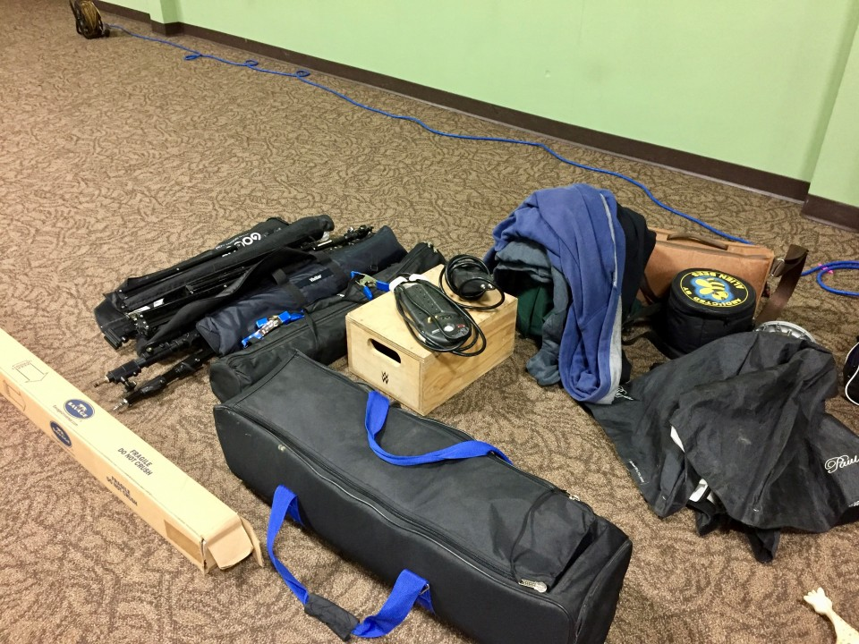 Load of camera gear ready to go